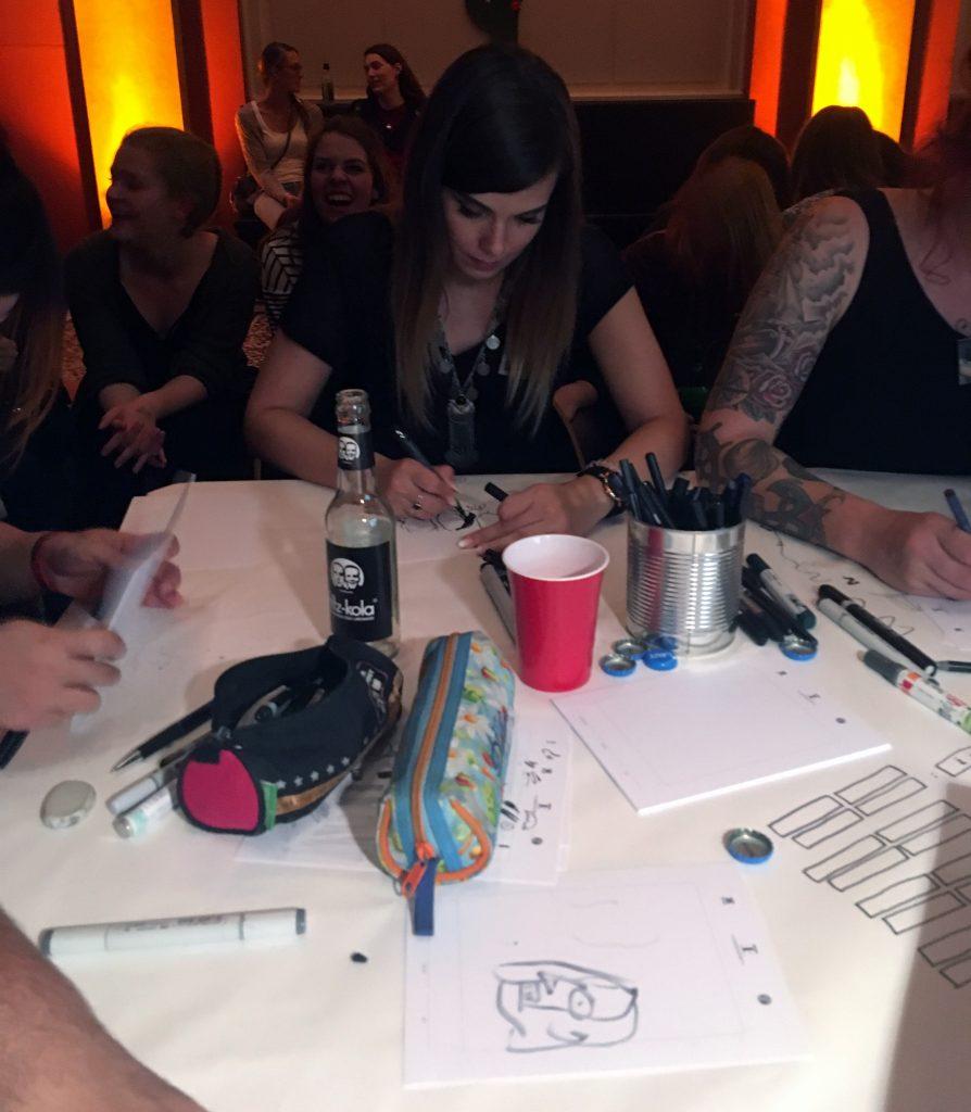 Junge Kunstnacht Live Zeichnen Lachsomat