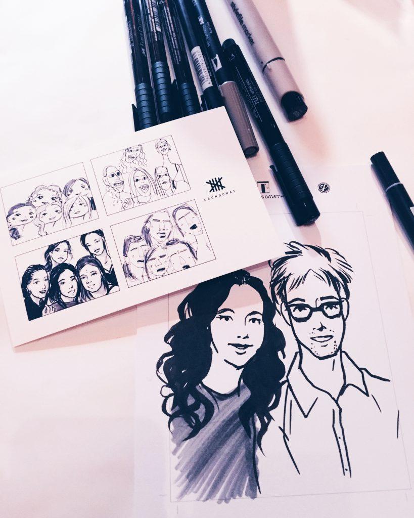 Lachsomat Live Zeichnen Junge Kunstnacht