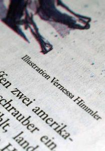 Zeitung Illustration Vernessa Himmler Illustrator Hamburg