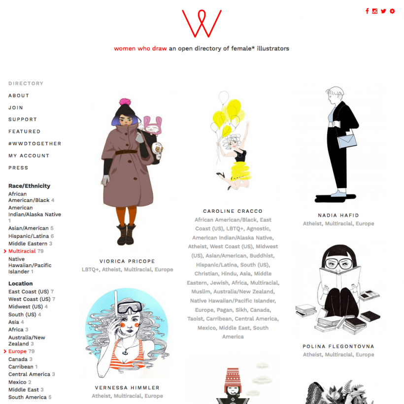 illustratorinnen women who draw