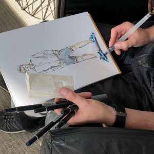 Live Sketching Beauty Fashion Illustrations Hamburg Event