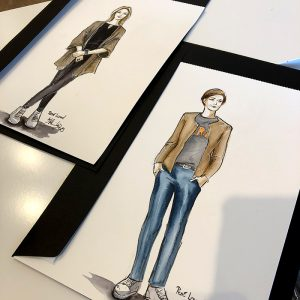 Live Sketching Fashion Beauty Illustrations RENÉ LEZARD Hamburg Event Live Drawing