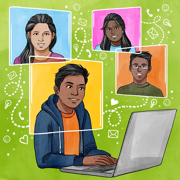 Illustration Corona Virtuelle Veranstaltungen