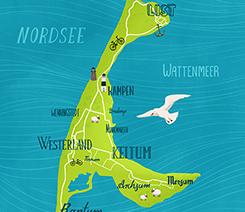 Sylt: Handlettering Karte