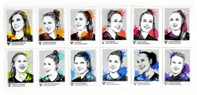 Tschutti Heftli EM Euro 2020 2021 Illustration